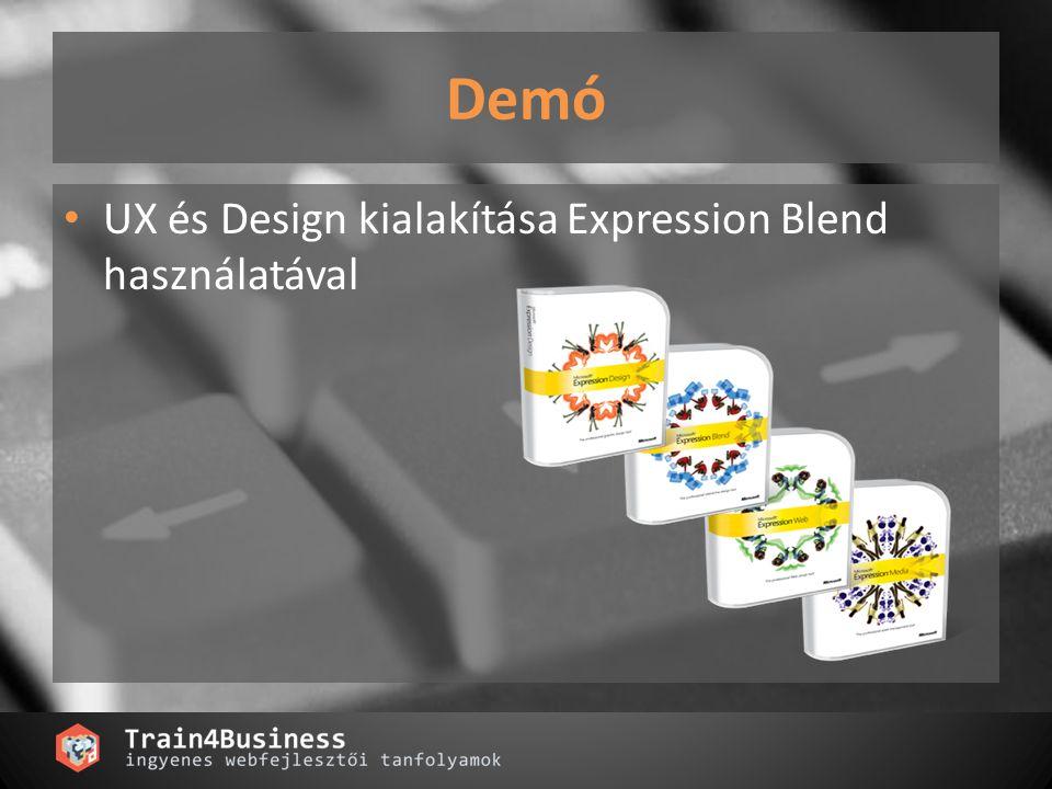 Demó UX és Design kialakítása Expression Blend használatával