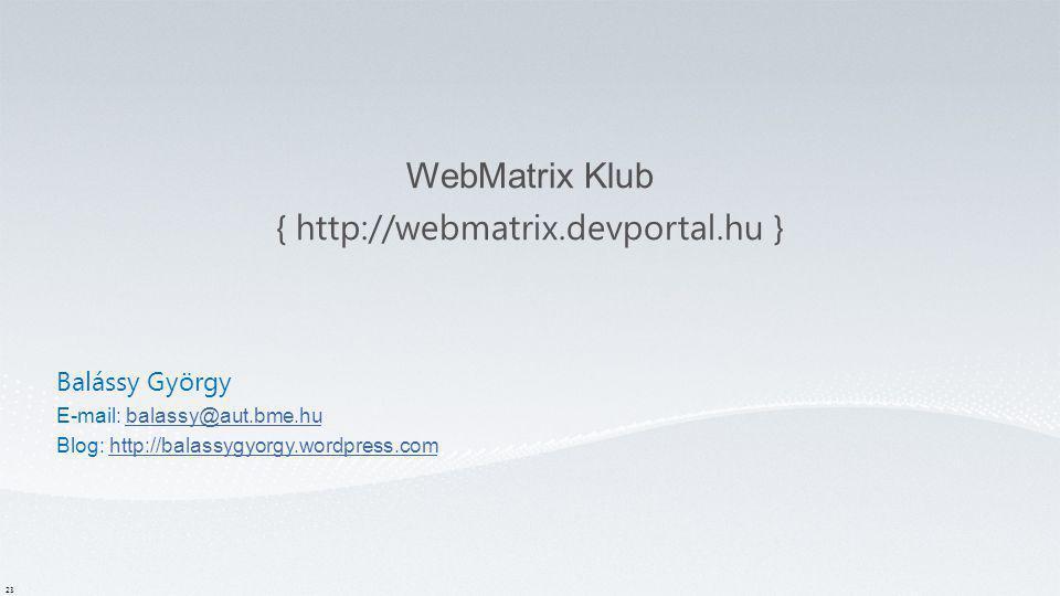 ASP.NET MVC Induló Készlet