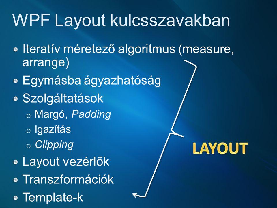 WPF Layout kulcsszavakban