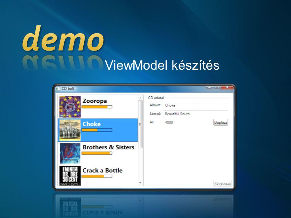 ViewModel készítés