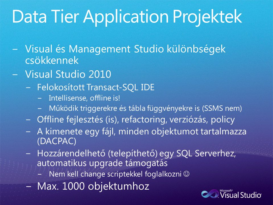 Data Tier Application Projektek