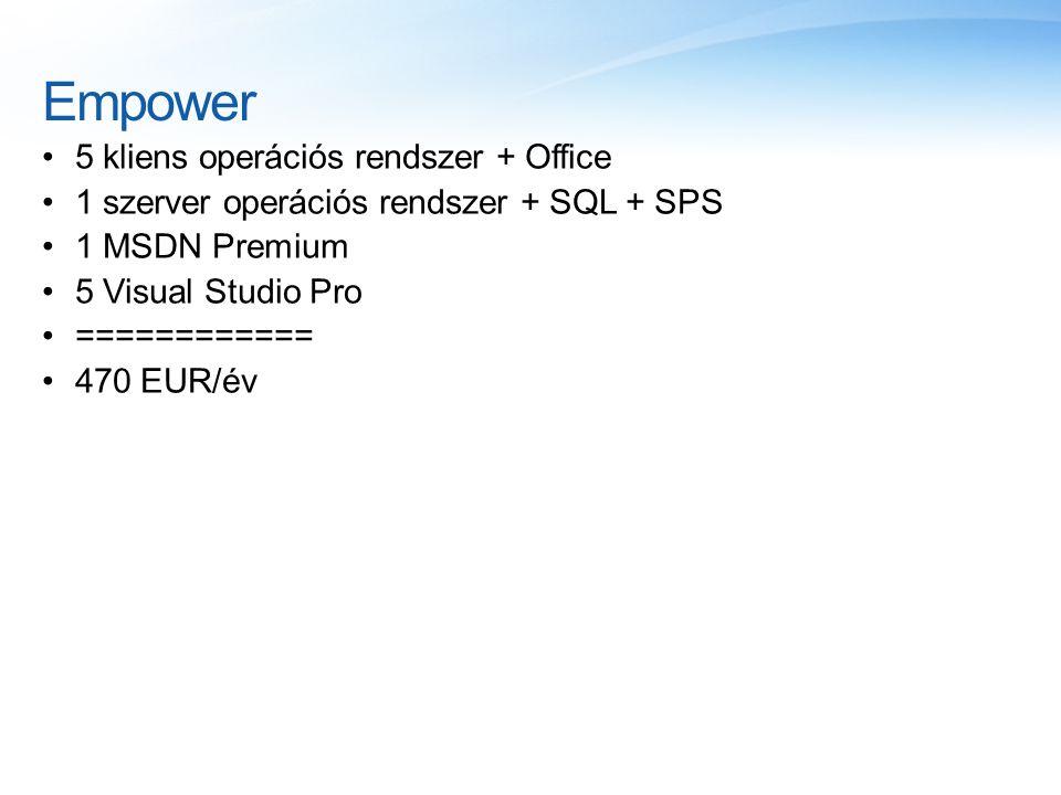 Empower 5 kliens operációs rendszer + Office