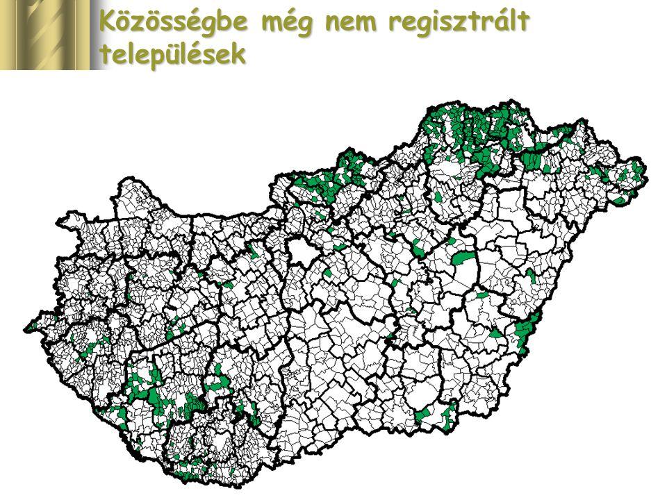 Közösségbe még nem regisztrált települések