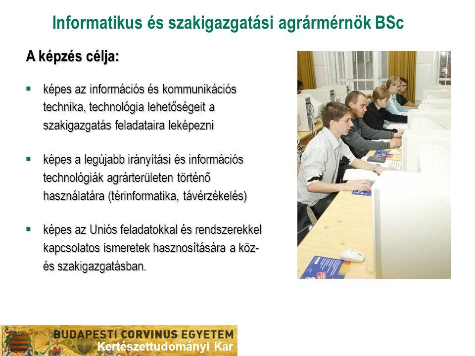 Informatikus és szakigazgatási agrármérnök BSc