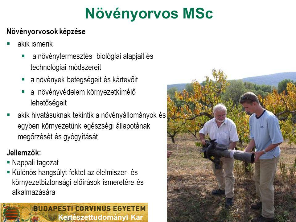 Növényorvos MSc Növényorvosok képzése akik ismerik