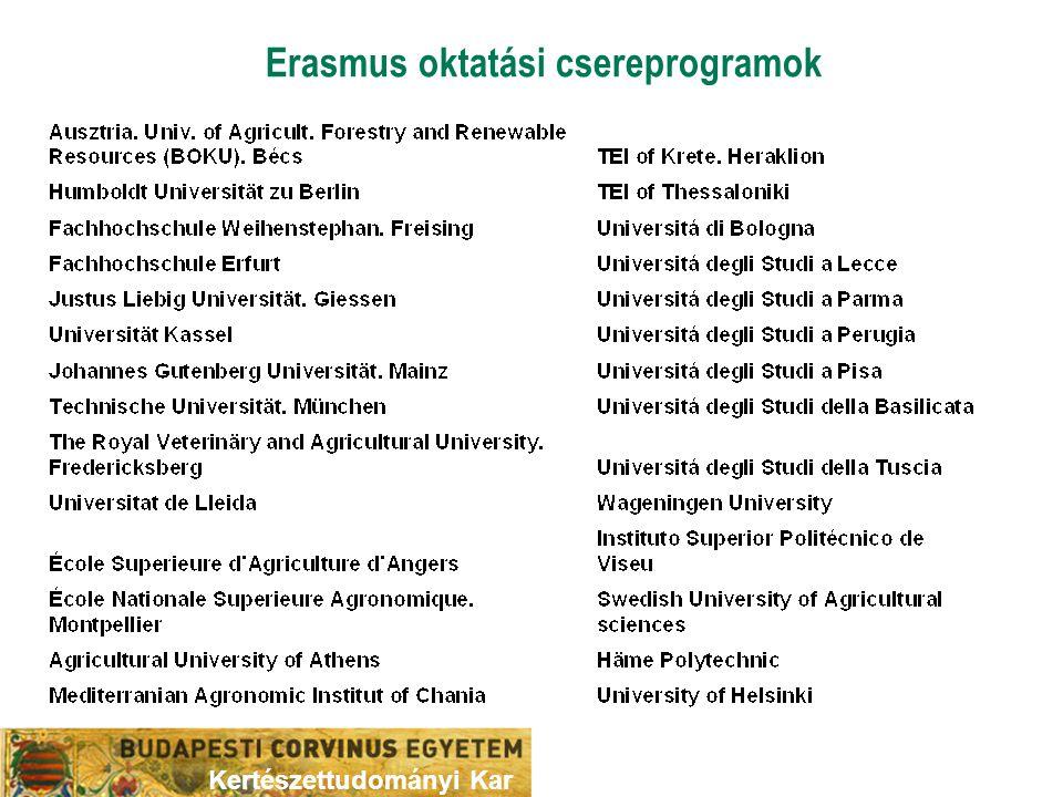 Erasmus oktatási csereprogramok