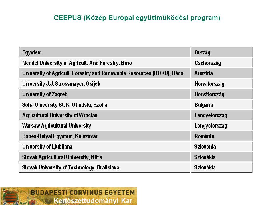CEEPUS (Közép Európai együttműködési program)