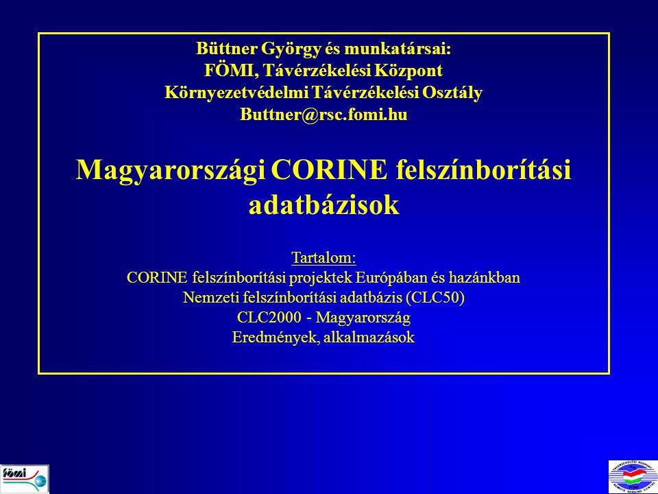 Magyarországi CORINE felszínborítási adatbázisok