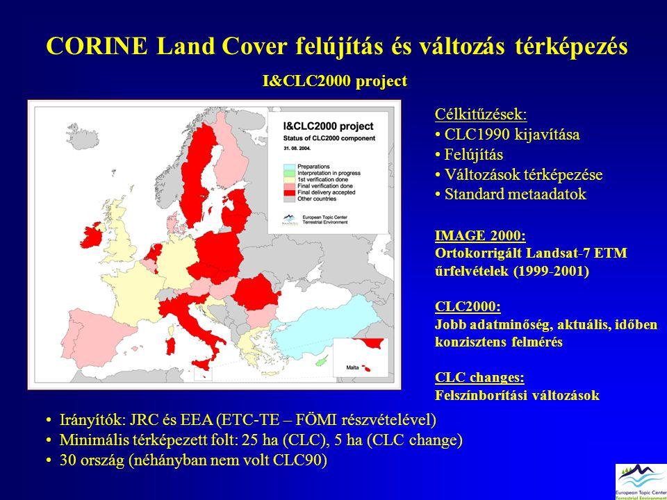 CORINE Land Cover felújítás és változás térképezés