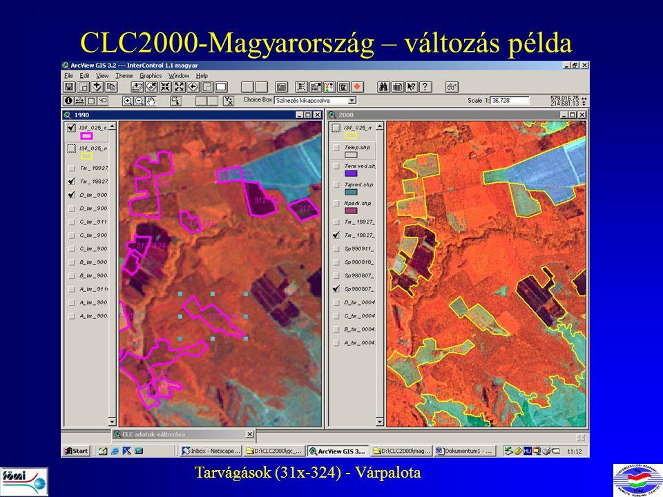 CLC2000-Magyarország – változás példa