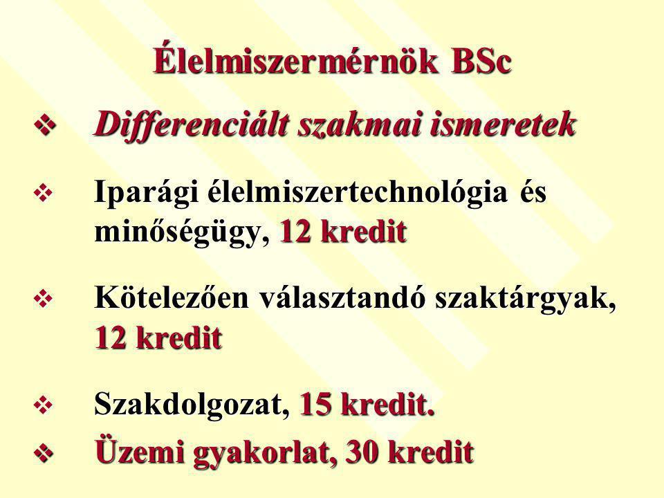 Differenciált szakmai ismeretek