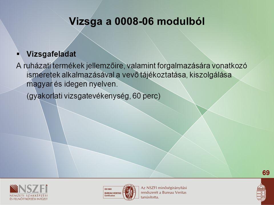 Vizsga a 0008-06 modulból Vizsgafeladat