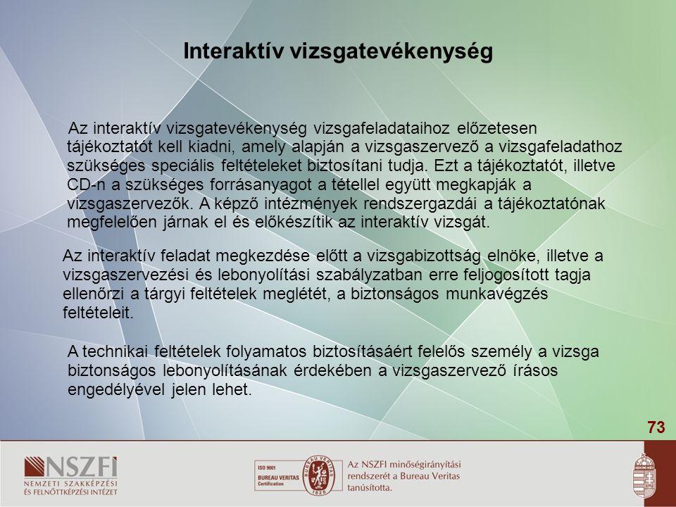 Interaktív vizsgatevékenység
