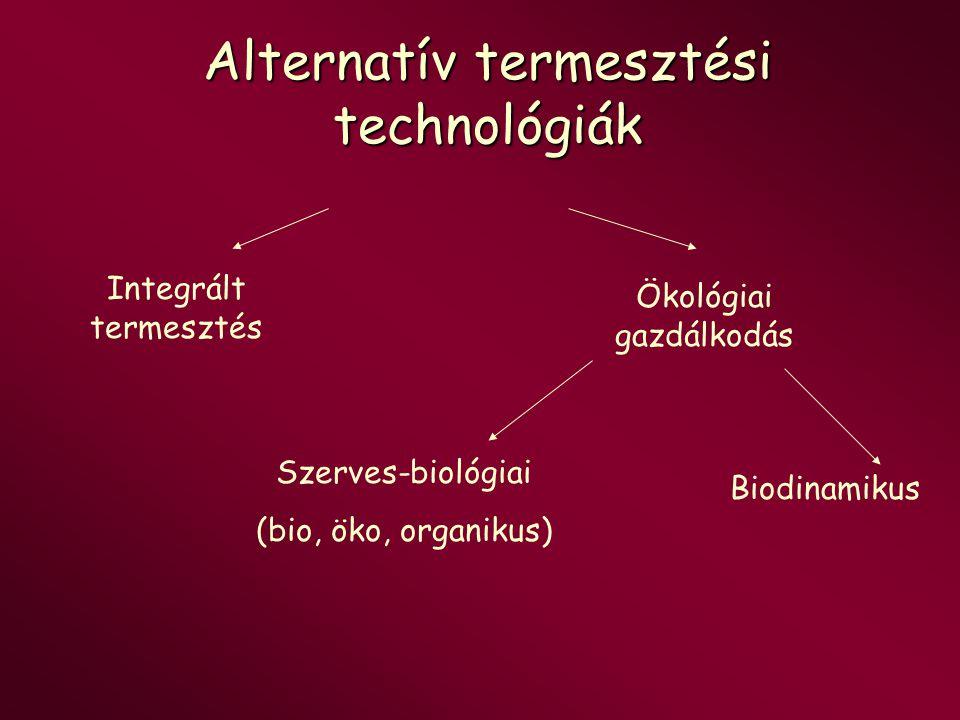 Alternatív termesztési technológiák