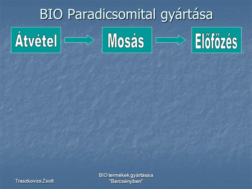 BIO Paradicsomital gyártása