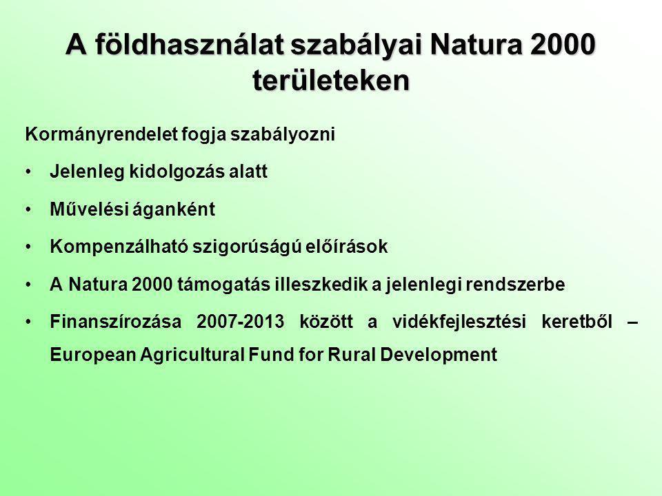 A földhasználat szabályai Natura 2000 területeken
