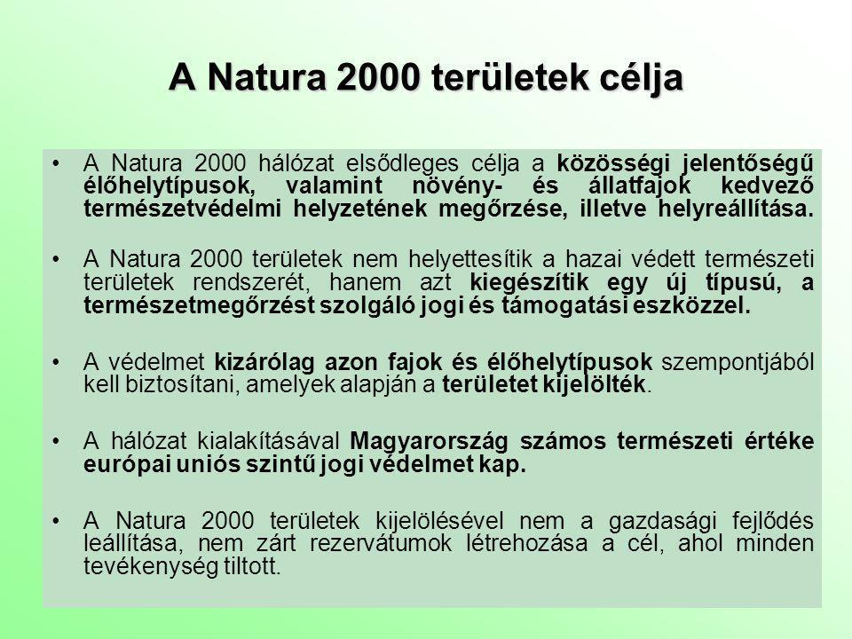 A Natura 2000 területek célja