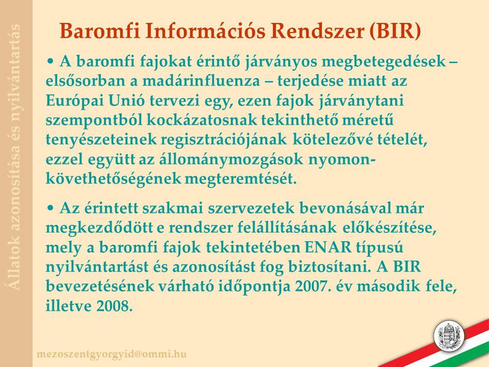 Baromfi Információs Rendszer (BIR)