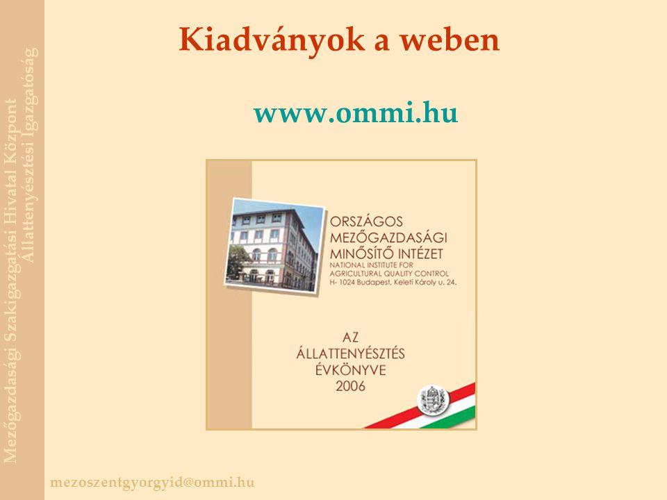 Kiadványok a weben www.ommi.hu