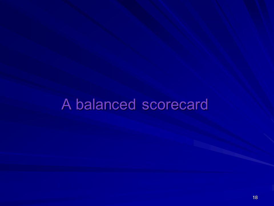 A balanced scorecard