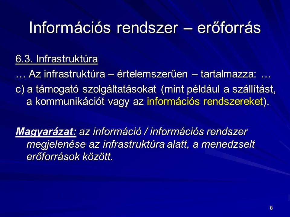 Információs rendszer – erőforrás