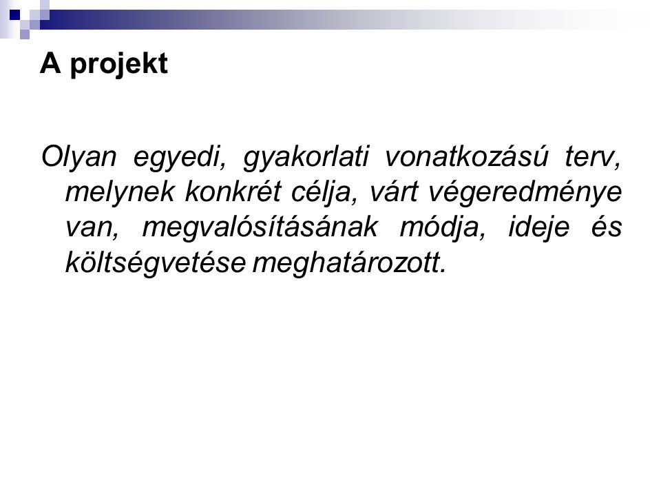 A projekt
