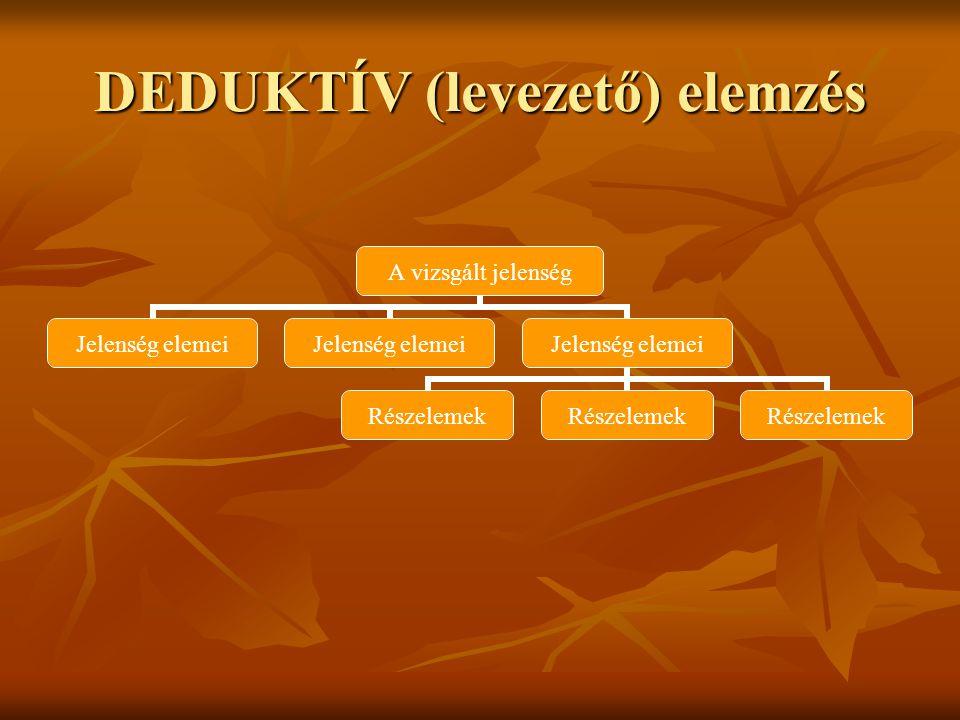 DEDUKTÍV (levezető) elemzés