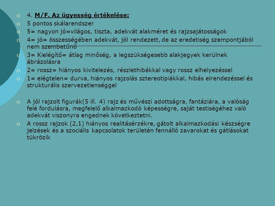 4. M/F. Az ügyesség értékelése: