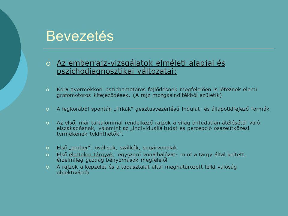 Bevezetés Az emberrajz-vizsgálatok elméleti alapjai és pszichodiagnosztikai változatai: