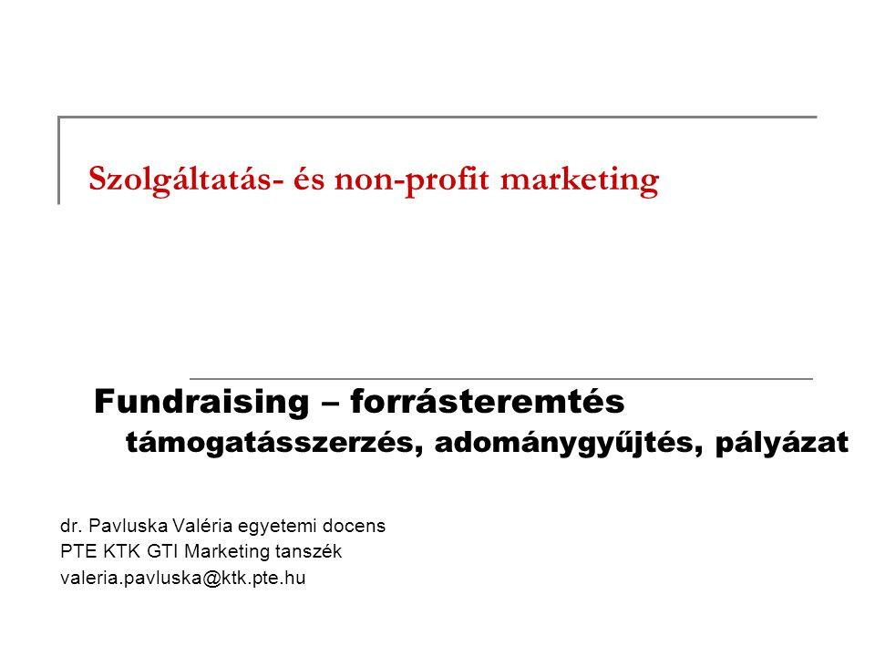 Szolgáltatás- és non-profit marketing