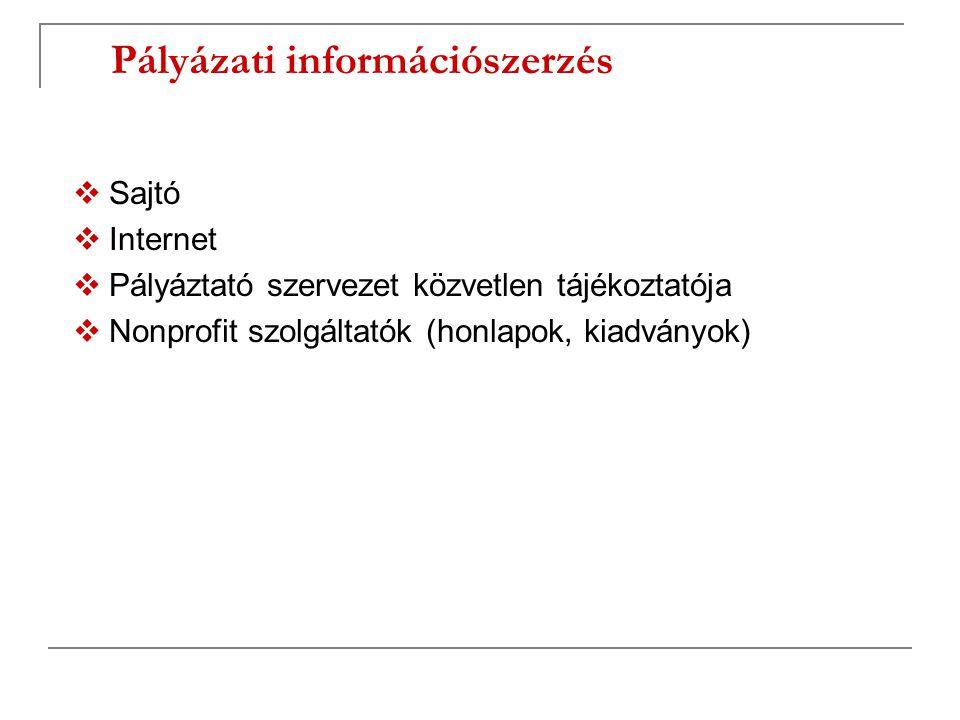 Pályázati információszerzés