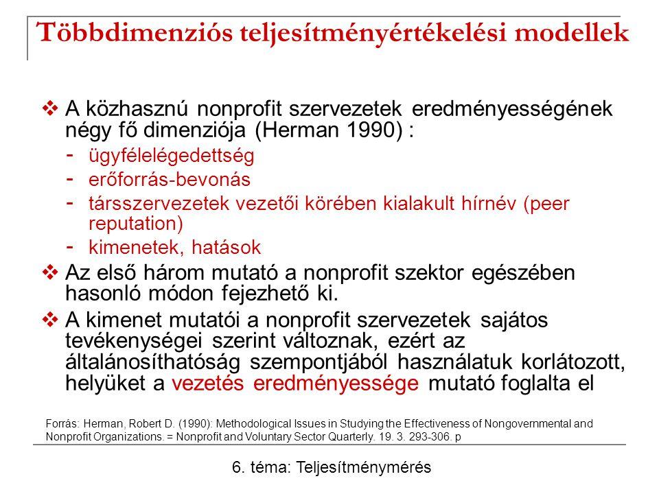 Többdimenziós teljesítményértékelési modellek