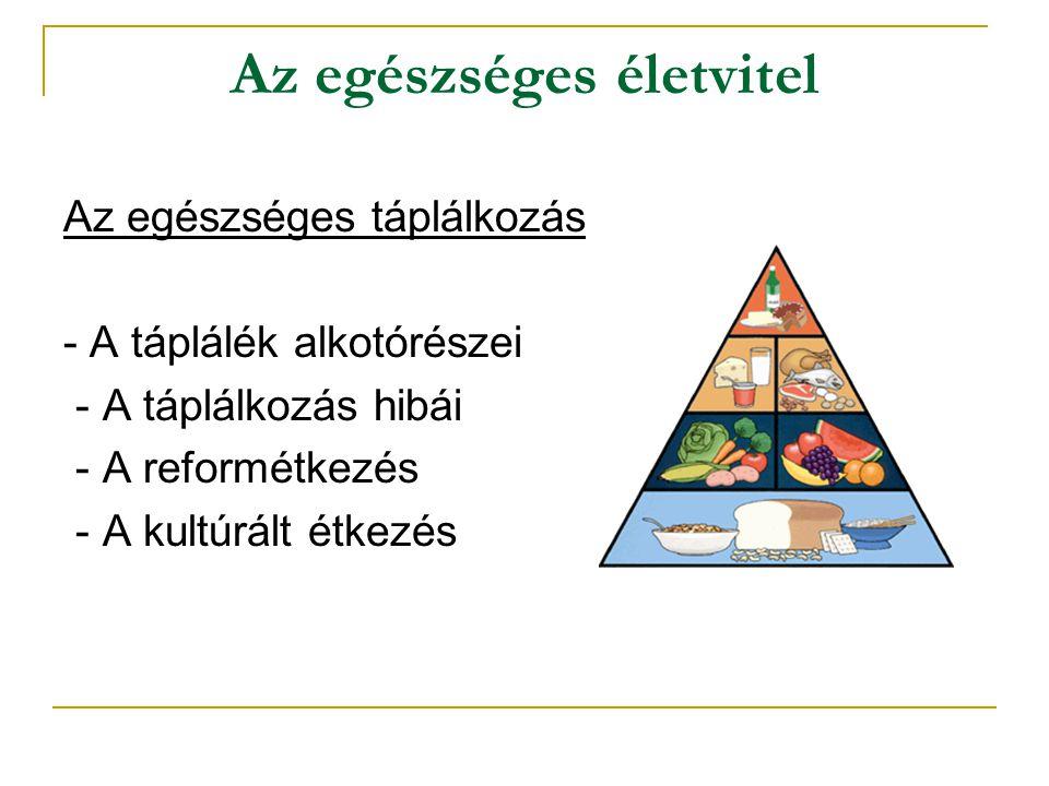 Az egészséges életvitel