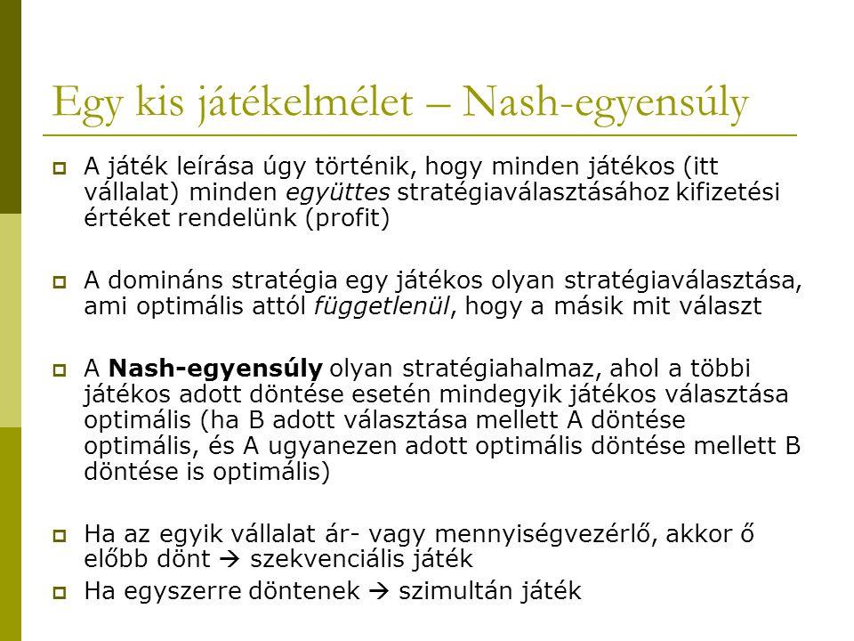 Egy kis játékelmélet – Nash-egyensúly