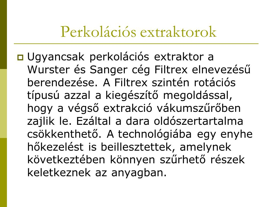 Perkolációs extraktorok