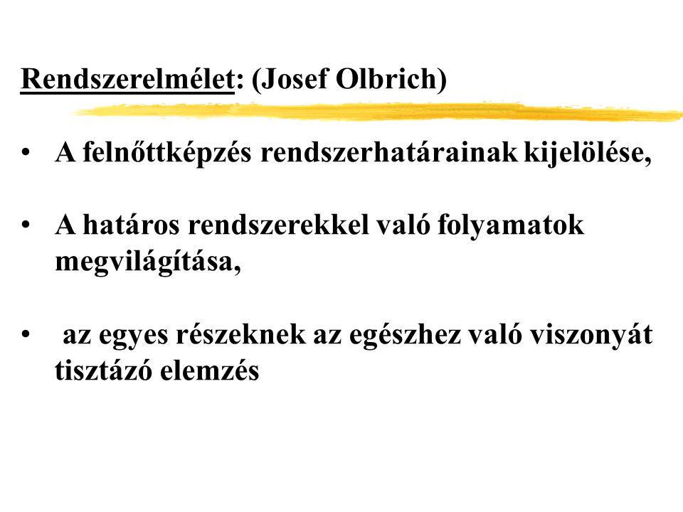 Rendszerelmélet: (Josef Olbrich)