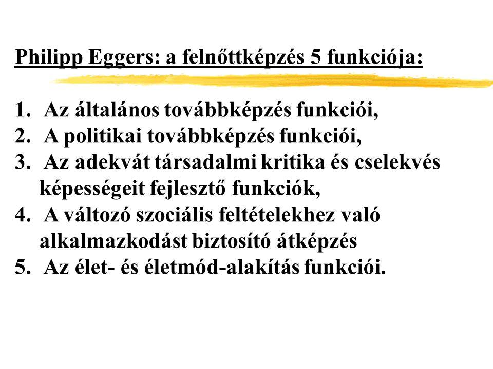 Philipp Eggers: a felnőttképzés 5 funkciója: