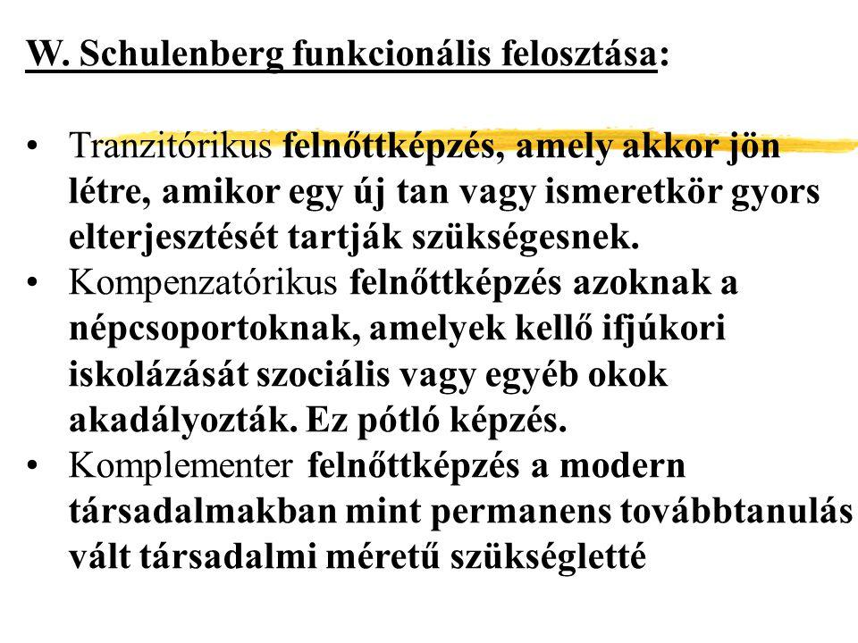 W. Schulenberg funkcionális felosztása: