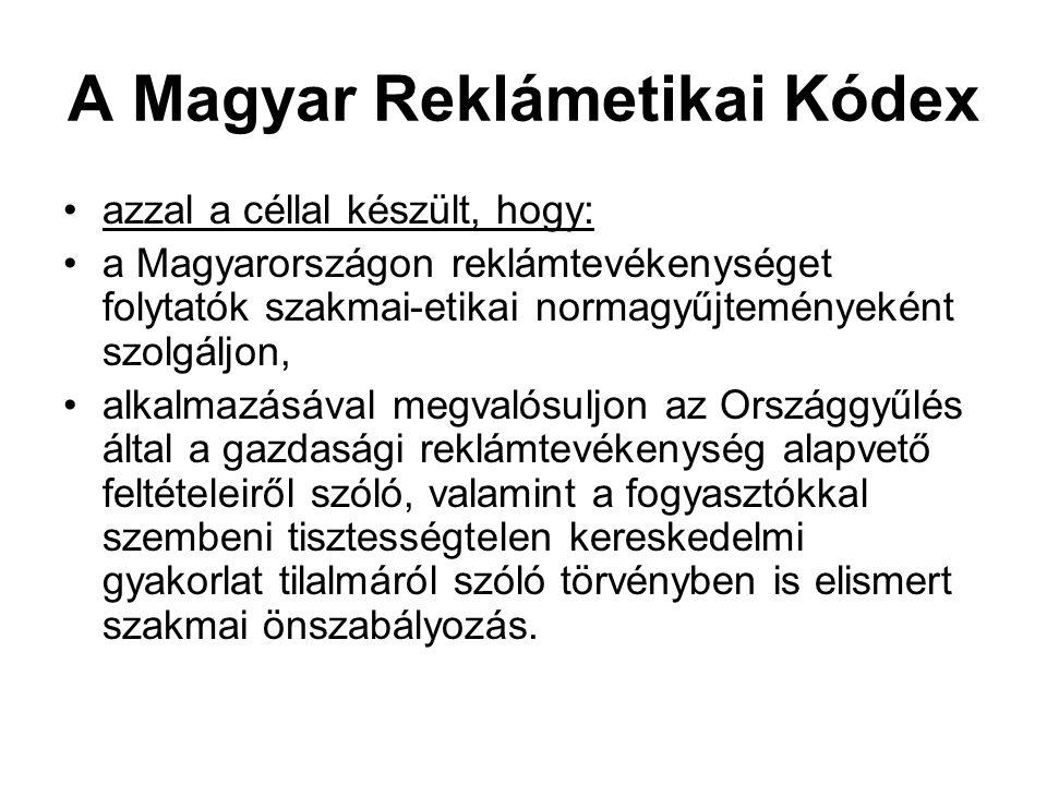 A Magyar Reklámetikai Kódex