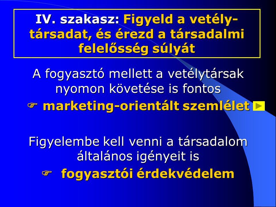  marketing-orientált szemlélet