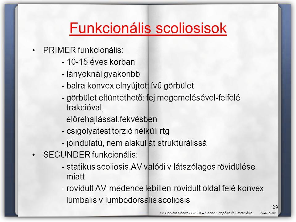 Funkcionális scoliosisok