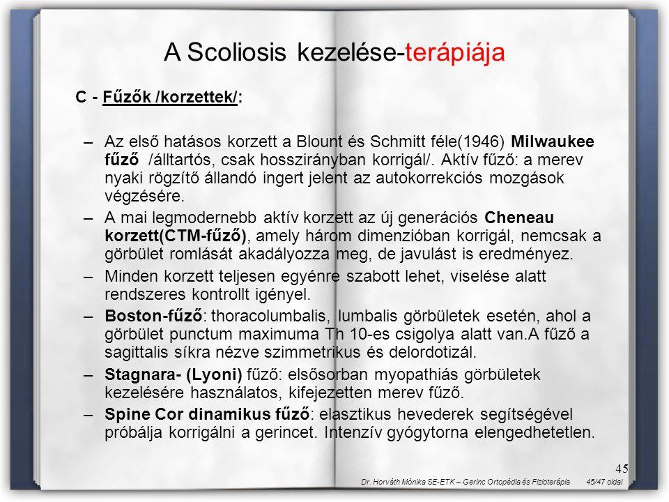 A Scoliosis kezelése-terápiája