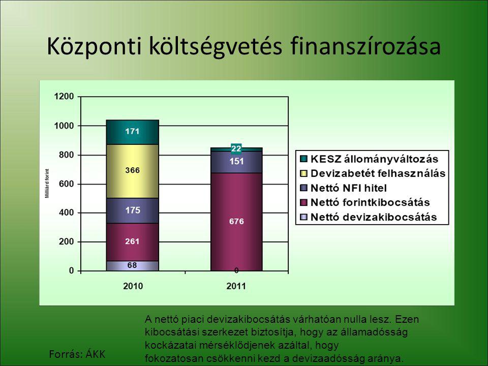 Központi költségvetés finanszírozása