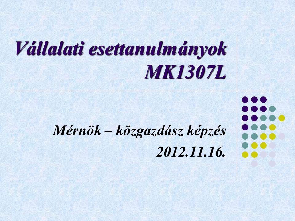 Vállalati esettanulmányok MK1307L