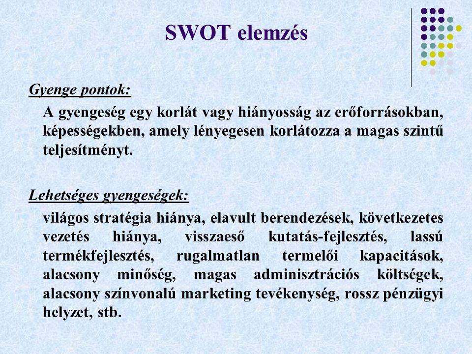 SWOT elemzés