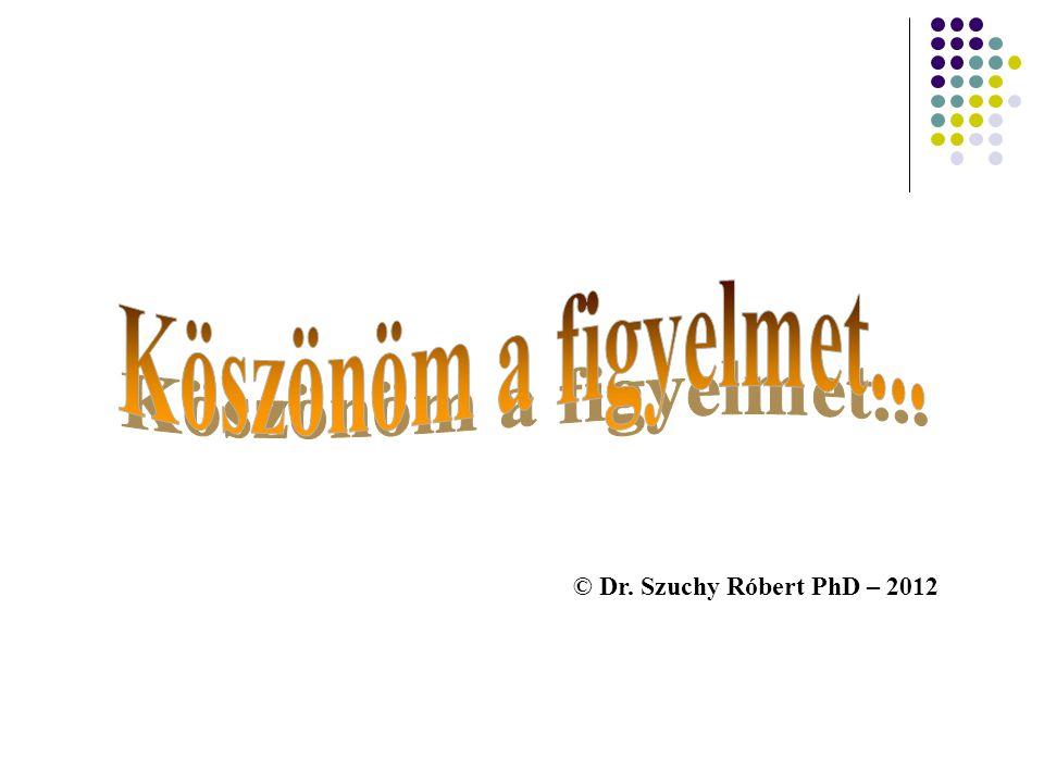 Köszönöm a figyelmet... © Dr. Szuchy Róbert PhD – 2012