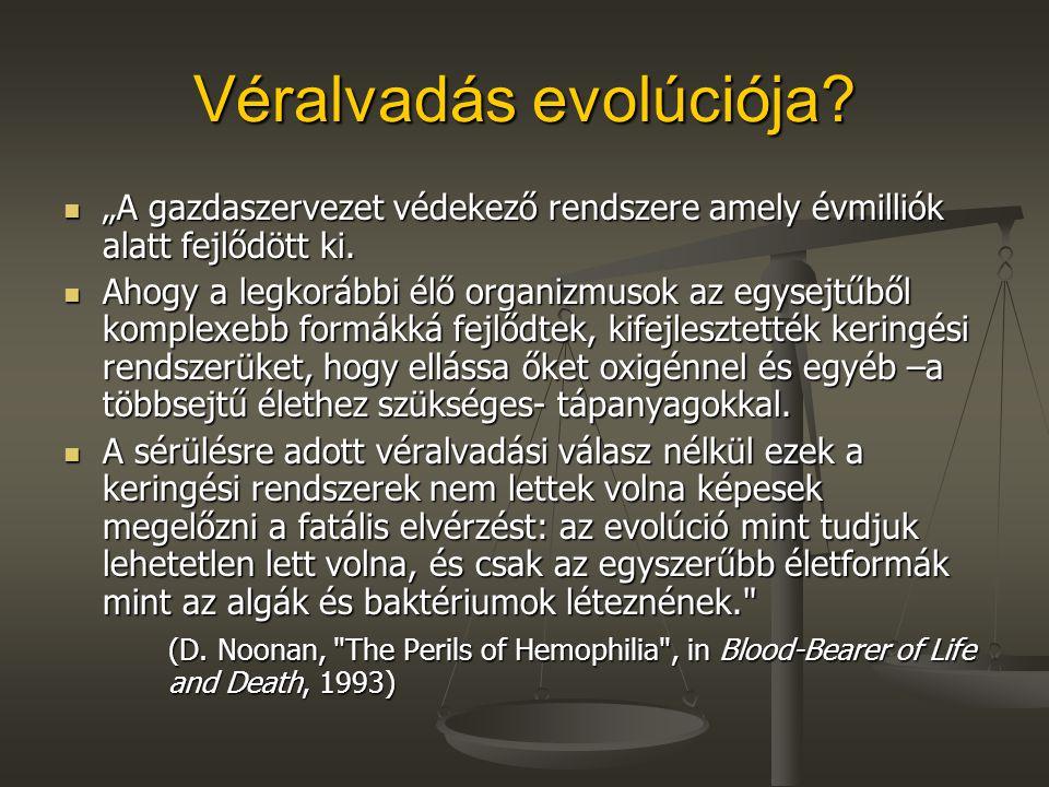 Véralvadás evolúciója