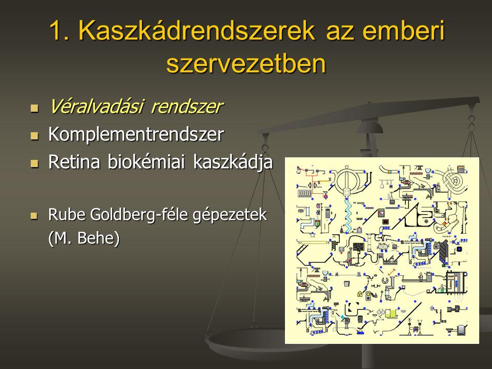 1. Kaszkádrendszerek az emberi szervezetben