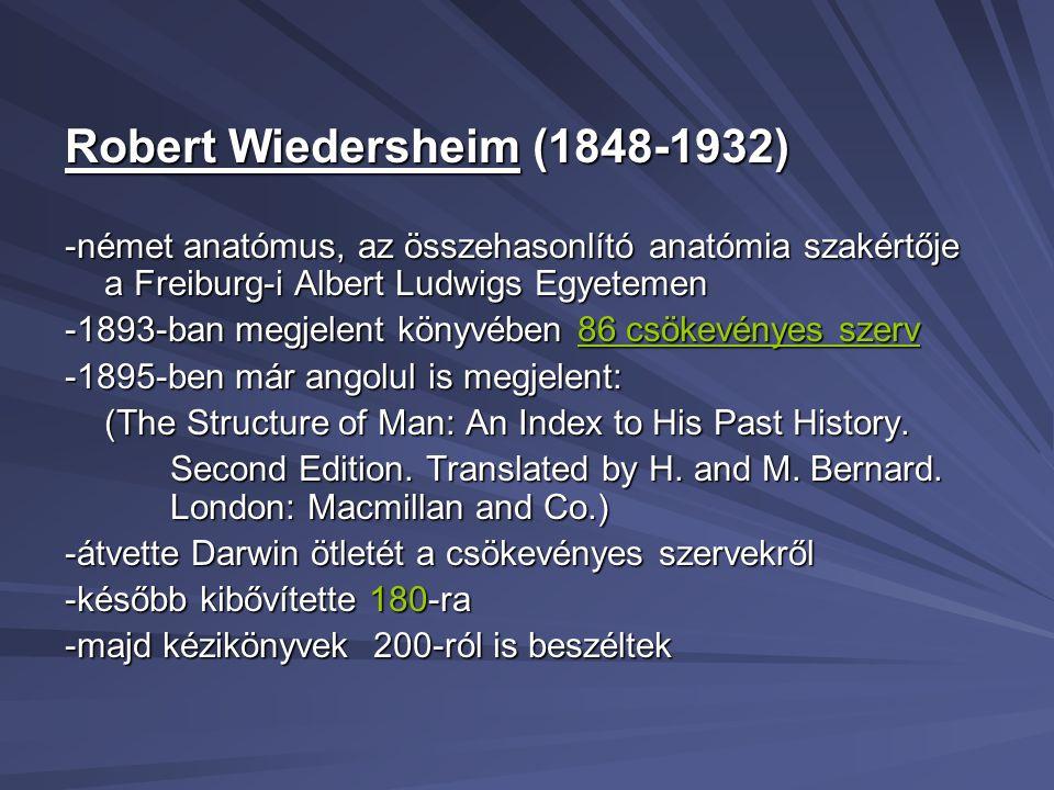 Robert Wiedersheim (1848-1932)