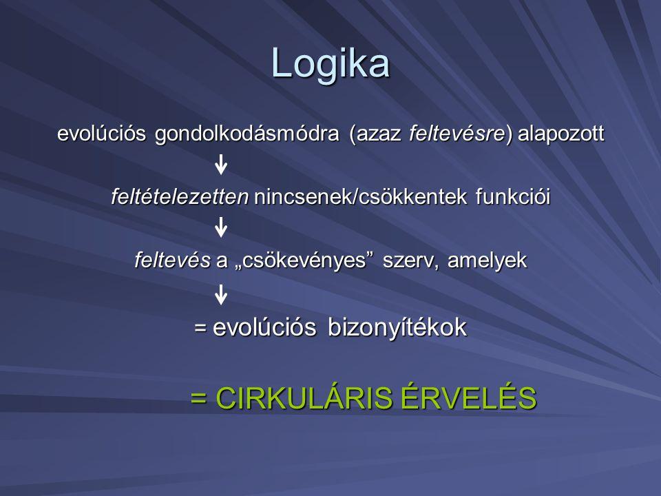 Logika = CIRKULÁRIS ÉRVELÉS
